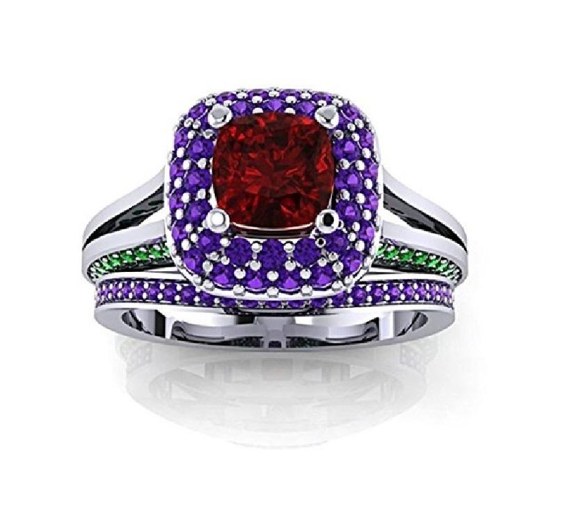925-Silver-Disney-Princess-Engagement-Ring-Set-in-White ... |Disney Princess Wedding Set
