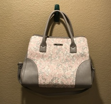 Nine West Light Pink/Grey Floral Shoulder Bag - $47.00