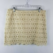 J. Crew Ivory Pencil Straight Skirt Floral Laser Cut Top Layer Women's S... - $4.70