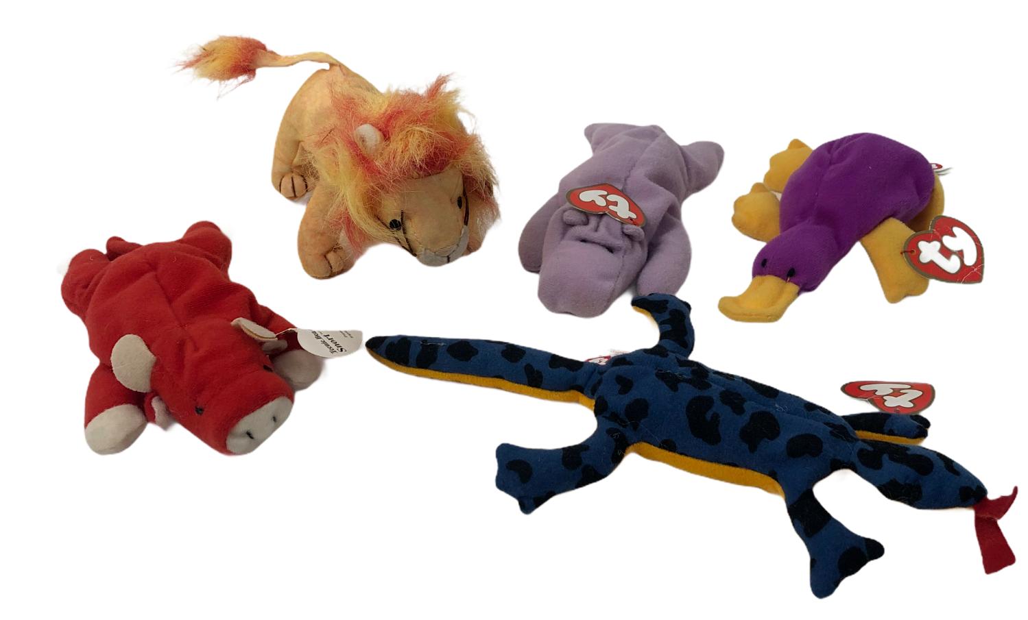 Ty Teenie Beanie Babies Lot of 5 Plush Stuffed Animal Toys - $30.00