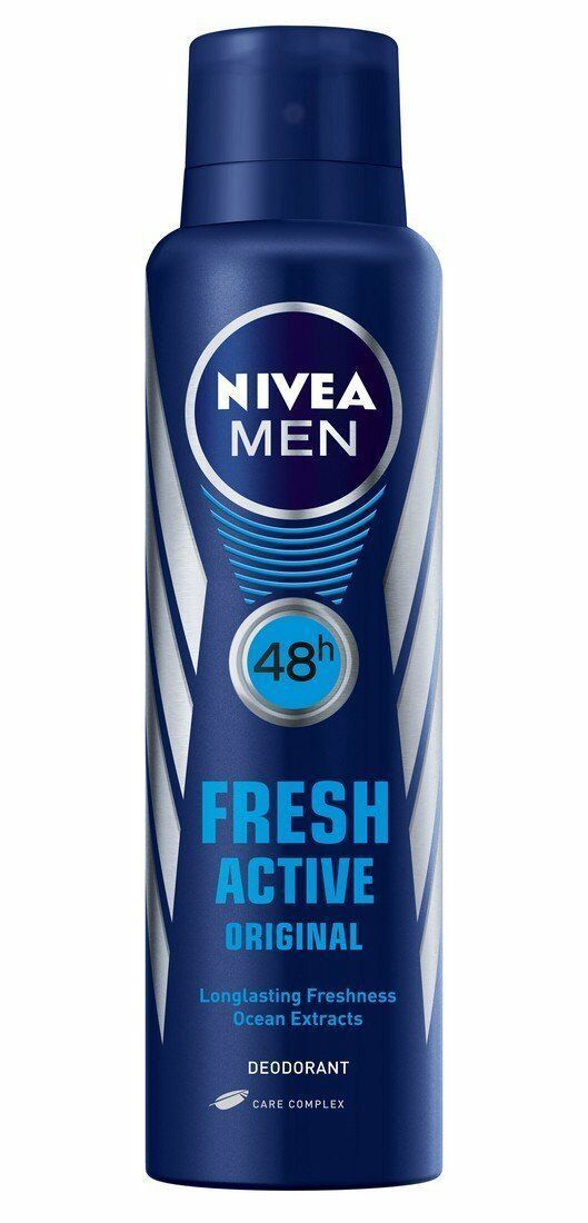 2 X Nivea Fresh Active Original 48 Hours Deodorant, 150ml, FS