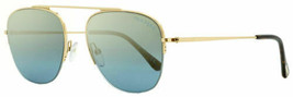 Tom Ford Semi-Rimless Sunglasses TF667 Abott 28X Gold/Havana 56mm FT0667 - $470.25