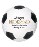 Bridesmaid Mini Soccer Ball Wedding Gift - Personalized Wedding Favor - $34.95