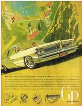 Vintage 1962 Magazine Ad Pontiac Grand Prix Beauty Eats Mountains For Breakfast - $5.93
