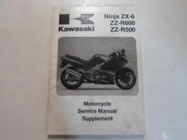 1993 2005 Kawasaki Ninja ZX-6 ZZ-R600 ZZ-R500 Manual de Mantenimiento Suplemento - $24.70