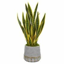 "Luxury Multicolor 30? Sansevieria Artificial Plant in Stoneware Planter - 30"" - $139.76"