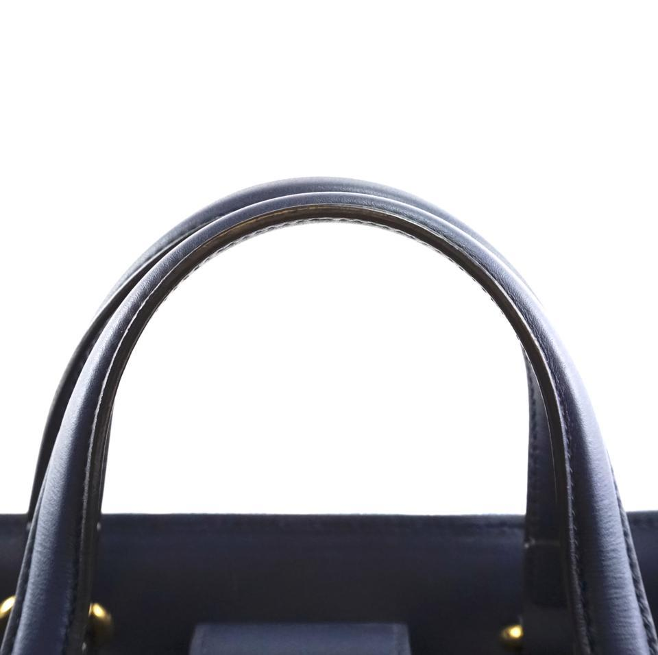 #31642 Gucci Marmont Gg Embroidered Matelasse Logo Tote Blue Denim Shoulder Bag image 11