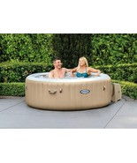"""Intex 28403E 77"""" PureSpa Portable Bubble Massage Spa / pool with cover tan - $890.01"""