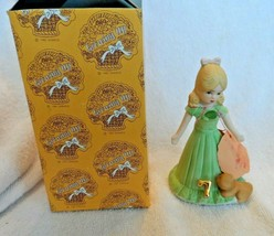 Growing Up Birthday Girls Age 7 Year Figure Bisque Porcelain-Enesco - $8.50