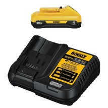 20-Volt Max Compact Lithium-Ion DCB240C Starter Kit w/ 4.0 Ah Battery & ... - $108.89