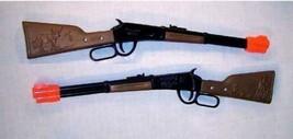 2 WESTERN LEVER RIFLE cowboy fun guns toy CAP gun old west die cast meta... - $9.45