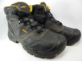 Keen Logandale Size: 10 M (D) EU 43 Men's WP Steel Toe Work Boots Black 1017828