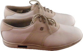 FootJoy Womens Golf Shoes Cape Cod Collection White Tan Beige Ladies 9.5 N - $19.79