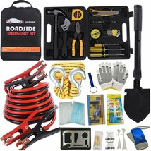 Multipurpose Emergency Pack Car Premium Road Kit, 124 Pieces - $77.27