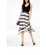 INC Women's Petite Black Striped Handkerchief Hem Dress Size PL NEW WITH... - $16.59
