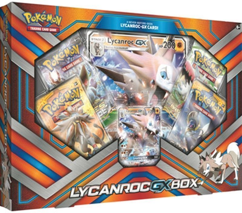 Pokemon Lycanroc GX Collection Box & Shining Legends Collectors Chest Tin Bundle