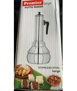 Premier PUTTU MAKER  PUTTU KUDAM stainless steel LARGE $60 value US seller