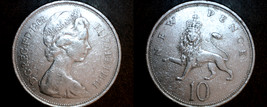 1968 Great Britain 10 New Pence World Coin - UK - England - $2.49