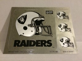 2x Vtg 1989 Oakland Raiders NFL Football Helmet Set of 4 Stickers Decal ... - $11.11