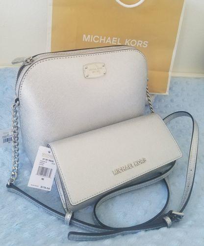 e58deb98ea4b 12. 12. Previous. set wallet+ bag Michael Michael Kors MK Cindy LG Dome  Crossbody ...