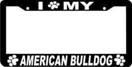 American Bulldog Dog Paw Print License Plate Frame - $4.49