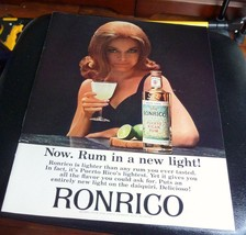 sexy 1965 Ronrico Rum lighter than any rum you have tasted 8.5 x 11 MAN ... - $6.80