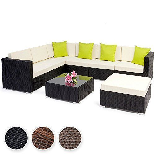 Contemporary Garden Wicker Sofa & Table Outdoor Furniture Set Luxury Corner Set image 2