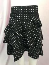 Ralph Lauren Black, White Polka Dot Tiered Lined A Line Skirt, Womens Si... - $18.99