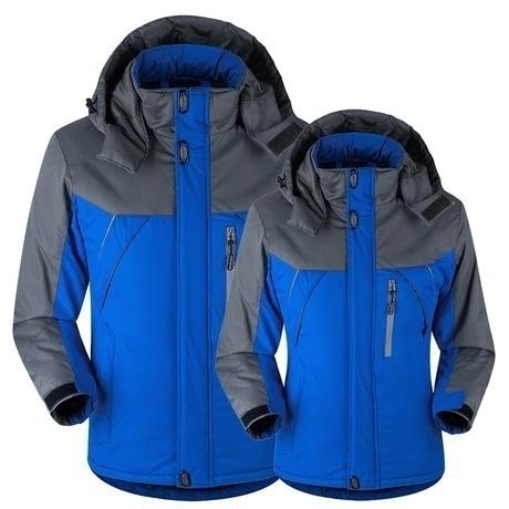 Autumn Winter Men Women Jacket Down Parkas New Couples Coat Velvet Windbreaker M