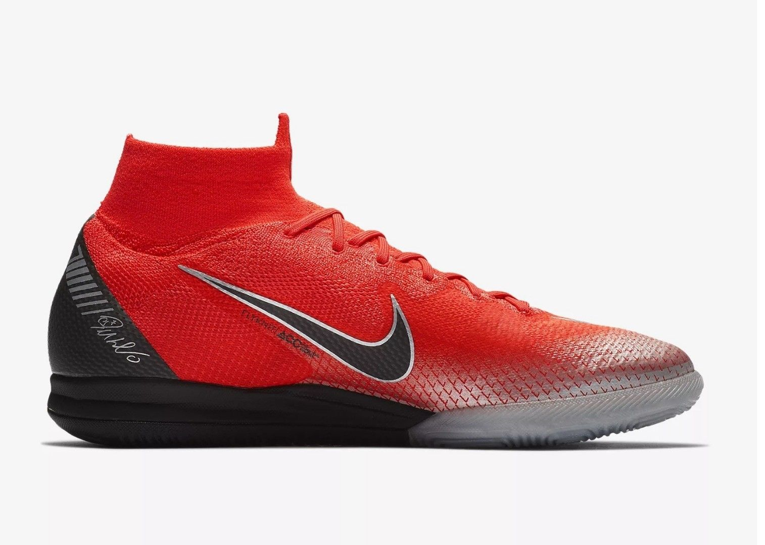 NEW NIKE FLASH CRIMSON CR7 SUPERFLY X 6 ELITE IC SOCCER CLEATS SNEAKERS SIZE 10