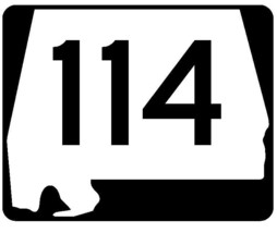 Alabama State Route 114 Sticker R4510 Highway Sign Road Sign Decal - $1.45+
