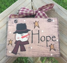 5780H - Hope Snowman Wood Sign - $2.50