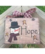 5780H - Hope Snowman Wood Sign - $2.50