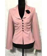Ruby Rox Women 3 Pink Long Sleeve Button Up Blouse Shirt Blazer Jacket S... - $24.99