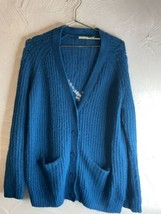 Kimchi Blue Cardigan Sweater Knitted Blue Size Medium - $20.56