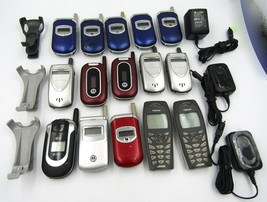 LOT of 15 Untested Cell Phones, Various Models Motorola - AS-IS for Part... - $79.19