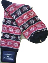 POLO RALPH LAUREN BLUE LABEL FAIR ISLE MEN'S SOCKS WOOL BLEND MADE IN JA... - $144.65