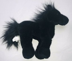 "Ganz Retired Webkinz Black Friesian Stallion 9"" Plush Horse HM145 - $17.81"