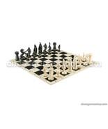 "VIKING Chess Set - chess Board B/W- Size 17,3"" + Roman chess Pieces 3,75... - $40.81"