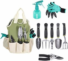 Gardening Tools Set | Garden Tool Organizer Tote | Gardening Gloves Incl... - $46.22