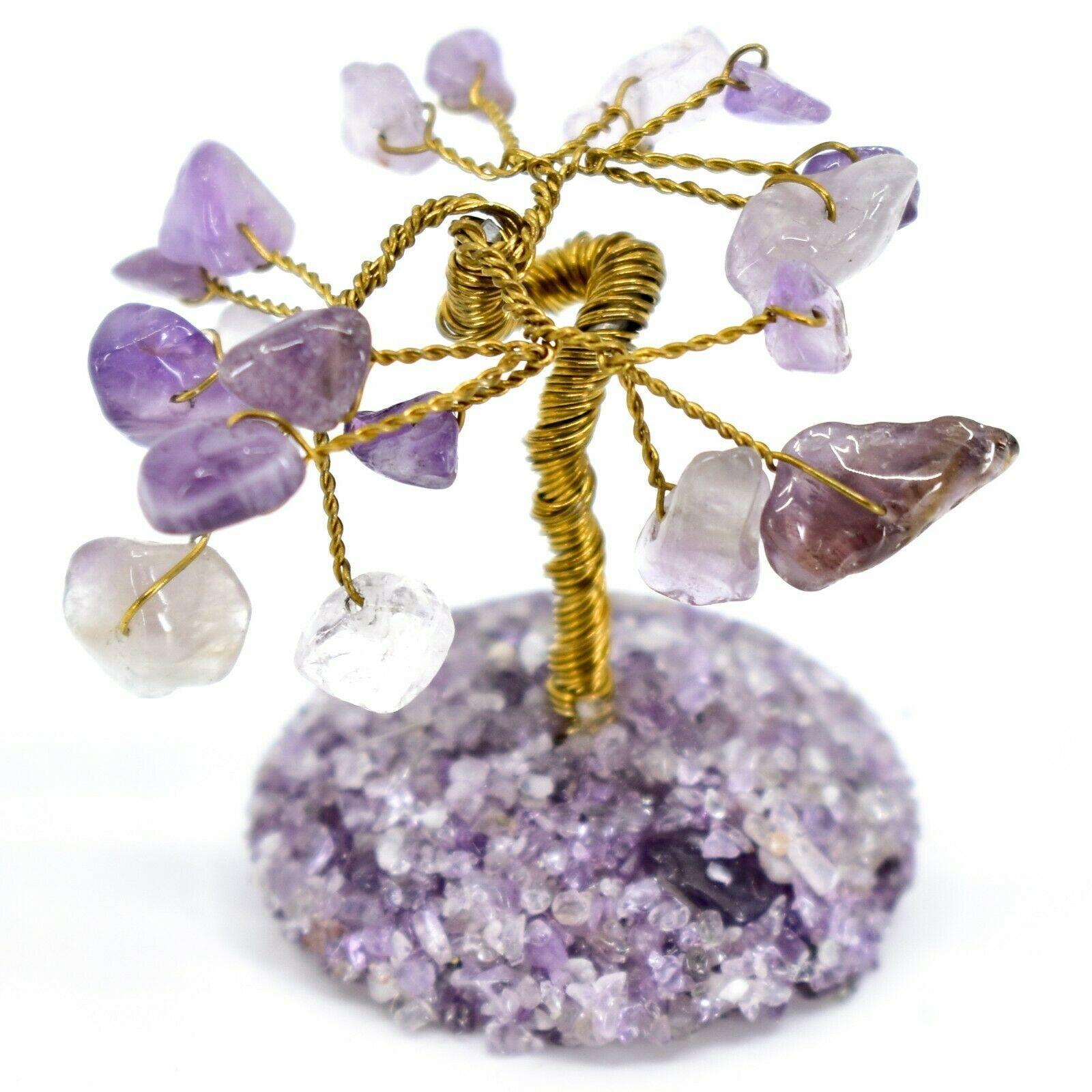 Polished Amethyst Gemstone Miniature Gem Tree Mini Gemtree