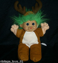 30.5cm Russ Berrie Co Reno Navidad Troll Kidz Muñeca 2335 Peluche Peluche - $21.87