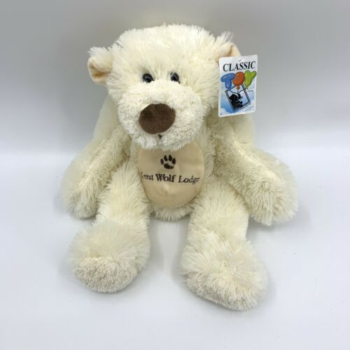 "Primary image for 13"" Great Wolf Lodge Plush Ivory White Embroidered BEAR"