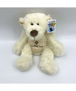 "13"" Great Wolf Lodge Plush Ivory White Embroidered BEAR - $8.86"