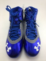 Under Armour Spine Heater Mid ST Metal Men's Baseball Cleats Blue Gray All Sizes - $25.41+