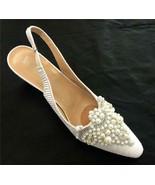 Women's Whittal & Shon Church Formal Dress White Pleated Shoes H100 - $49.99