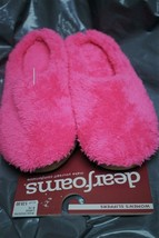 New Womens Dearfoams Bright Pink Size 9-10 Style # sm40448 INDOOR/OUTDOOR Soles - $13.55