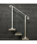 4 Foot Aluminum Stair Railing Handrail | Base Plate Posts | Aluminum Gra... - $210.00
