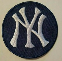 """New York Yankees Ny Embroidered PATCH~3""""~Navy~Iron On~Mlb~Free Us Mail - $4.25"""