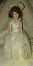 """VINTAGE 7"""" DOLL WITH HOMEMADE CLOTHES - $24.75"""